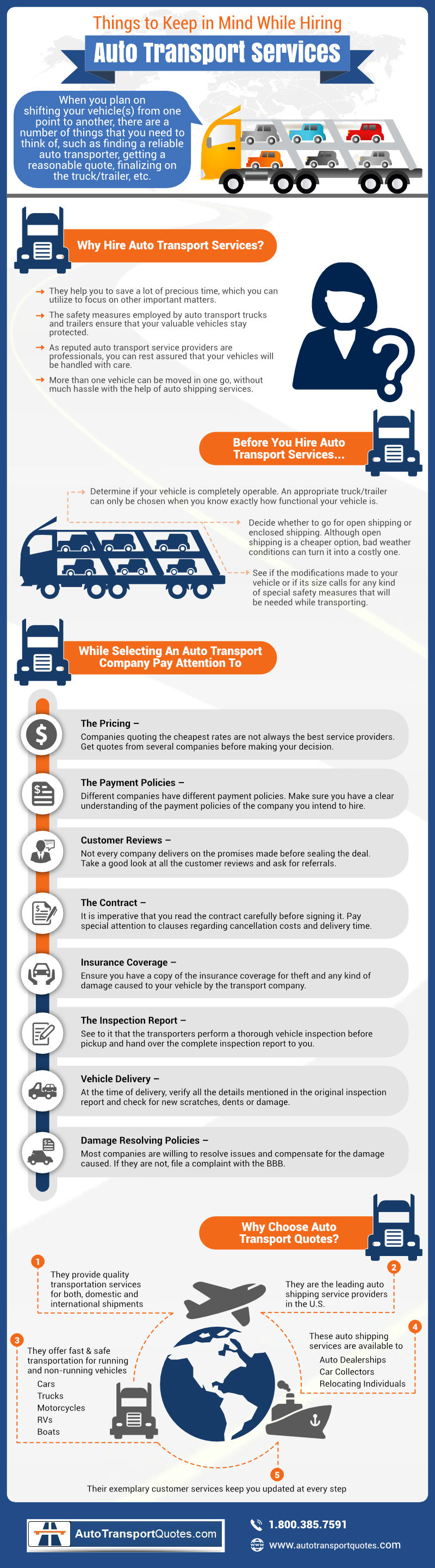 Auto Transport Quotes To Keep In Mind While Hiring Auto Transport Services